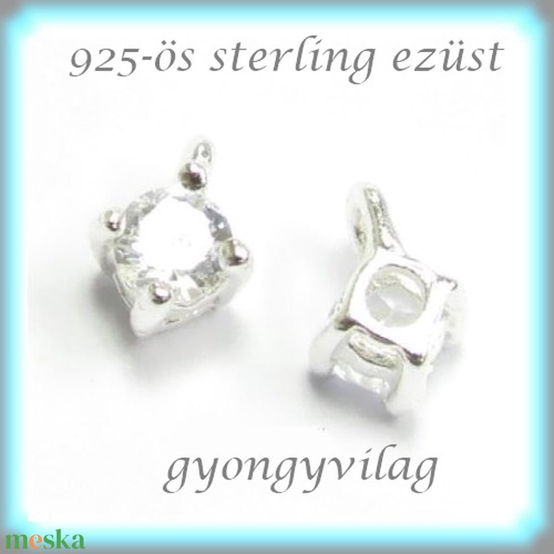 925-ös finomságú sterling ezüst kandeláber/ továbbépíthető köztes /tartó elem  EKA 48 - gyöngy, ékszerkellék - egyéb alkatrész - Meska.hu