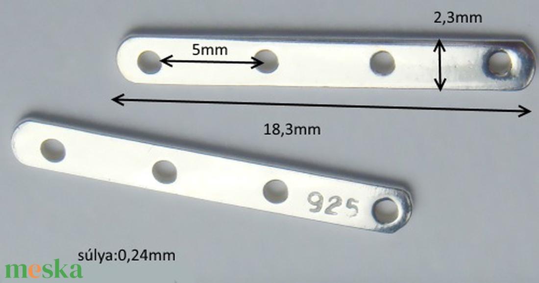 925-ös ezüst távtartó ETT 04 - gyöngy, ékszerkellék - egyéb alkatrész - Meska.hu