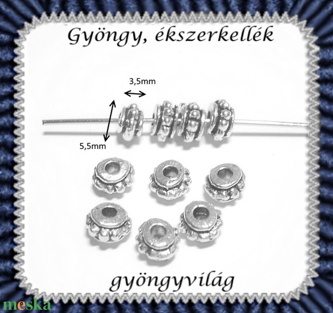 Ékszerkellék: köztes / díszítőelem / gyöngy BKÖ 1S 09 50db/csomag - gyöngy, ékszerkellék - egyéb alkatrész - Meska.hu
