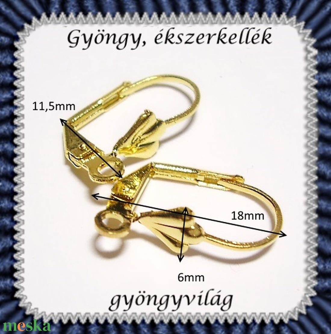 Biztonsági kapccsos fülbevaló alap 10 pár BFK-K01 A - gyöngy, ékszerkellék - egyéb alkatrész - Meska.hu