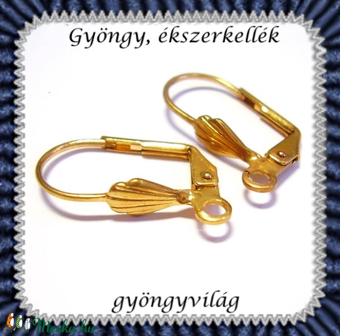 Biztonsági kapccsos fülbevaló alap 5 pár BFK-K08A - gyöngy, ékszerkellék - egyéb alkatrész - Meska.hu