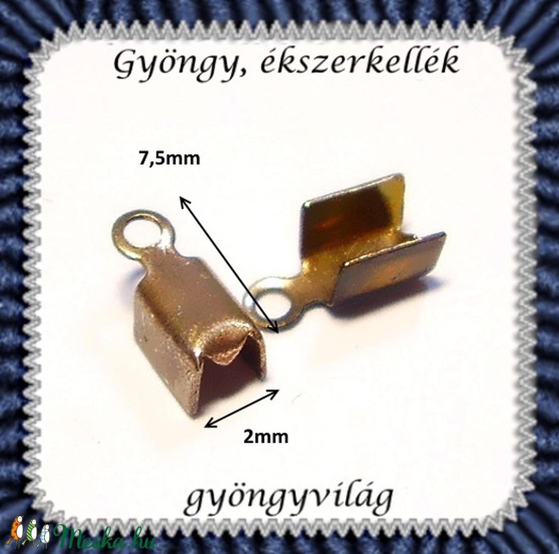 Ékszerkellék: lánckapocs BLK-V06  vég / bőr vég 24 db - gyöngy, ékszerkellék - egyéb alkatrész - Meska.hu