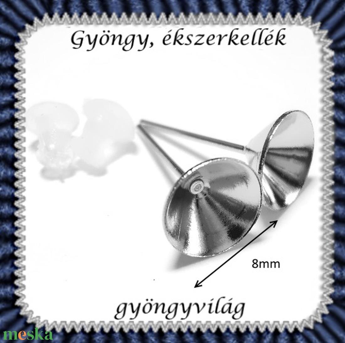 Kristály rivoli  8mm-es  4 db/cs  ÜGY-RI08 - gyöngy, ékszerkellék - swarovski kristályok - Meska.hu