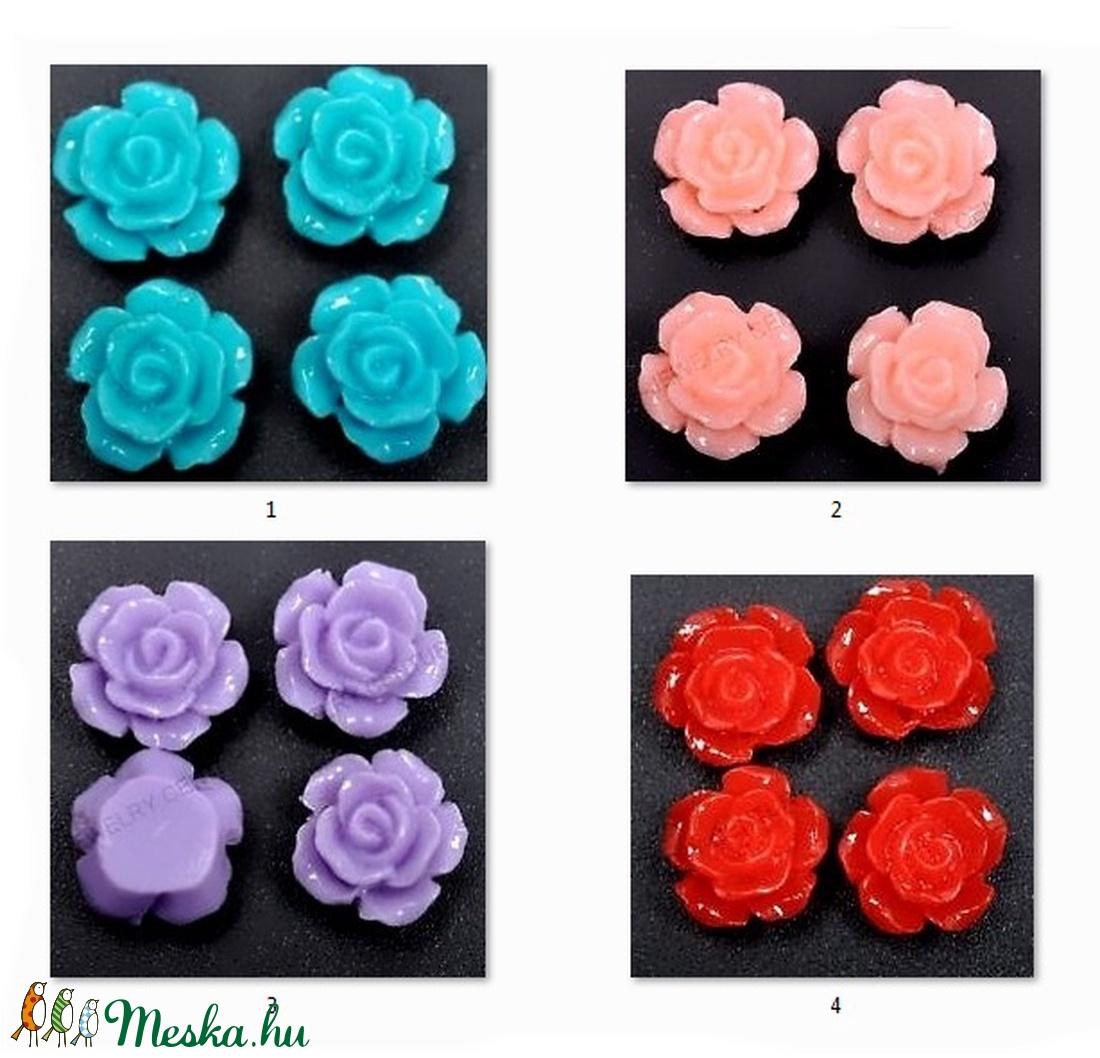Műgyanta rózsa caboshan  5db /csomag  CAB01 - Meska.hu