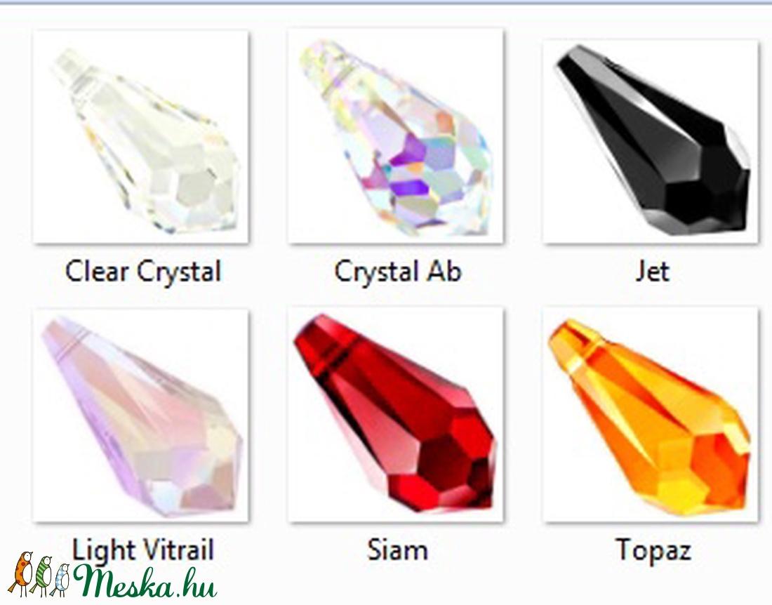 Swarovski kristály medál: csepp (6000) 15mm  SW6000-15 - gyöngy, ékszerkellék - swarovski kristályok - Meska.hu