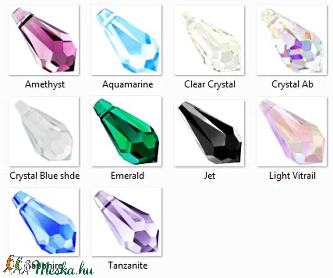 swarovski csepp 13mm-es több színben - gyöngy, ékszerkellék - swarovski kristályok - Meska.hu