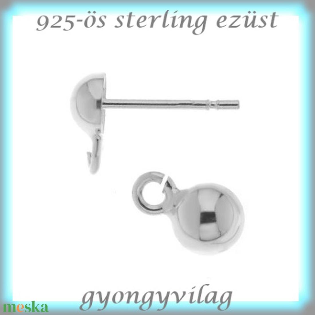925-ös ezüst fülbevaló kapocs EFK B 33 - gyöngy, ékszerkellék - egyéb alkatrész - Meska.hu