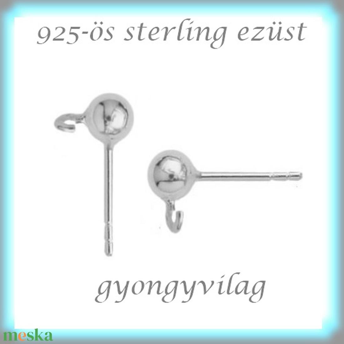 925-ös ezüst fülbevaló kapocs EFK B 01-3 - gyöngy, ékszerkellék - egyéb alkatrész - Meska.hu