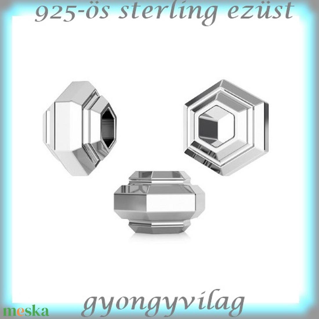 925-ös ezüst köztes / gyöngy / dísz EKÖ 84 - gyöngy, ékszerkellék - fém köztesek - Meska.hu