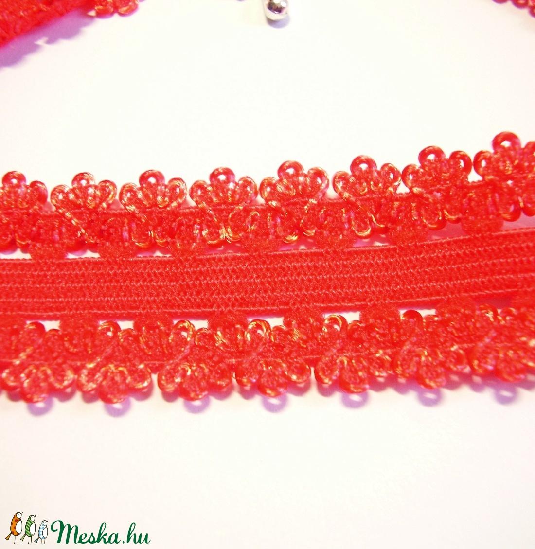 4b4f2c8c5 Piros elasztikus csipke choker, nyakpánt L-GO25 (gyongyvilag) - Meska.hu