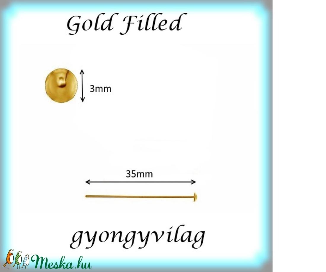 Gold  Filled szerelőpálca szög végű  35  x 0,8mm-es - Meska.hu