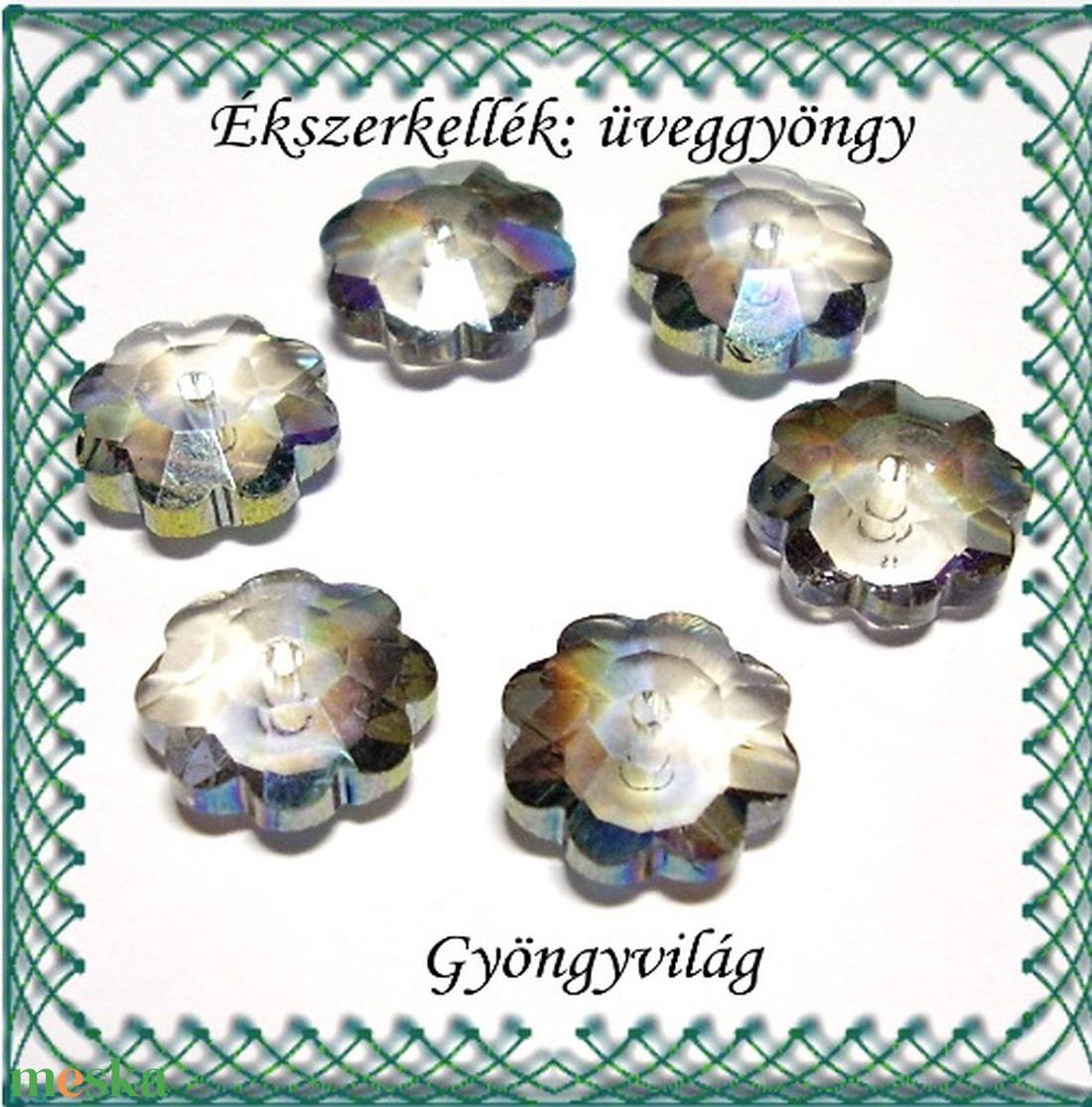 Üveggyöngy- margaréta 10mm több színben - gyöngy, ékszerkellék - kásagyöngy - Meska.hu