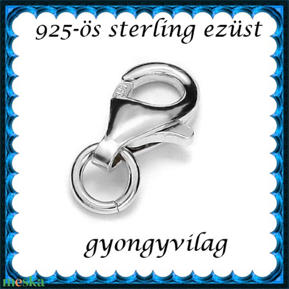 925-ös sterling ezüst ékszerkellék: lánckalocs  ELK 1S 19-11 - gyöngy, ékszerkellék - egyéb alkatrész - Meska.hu