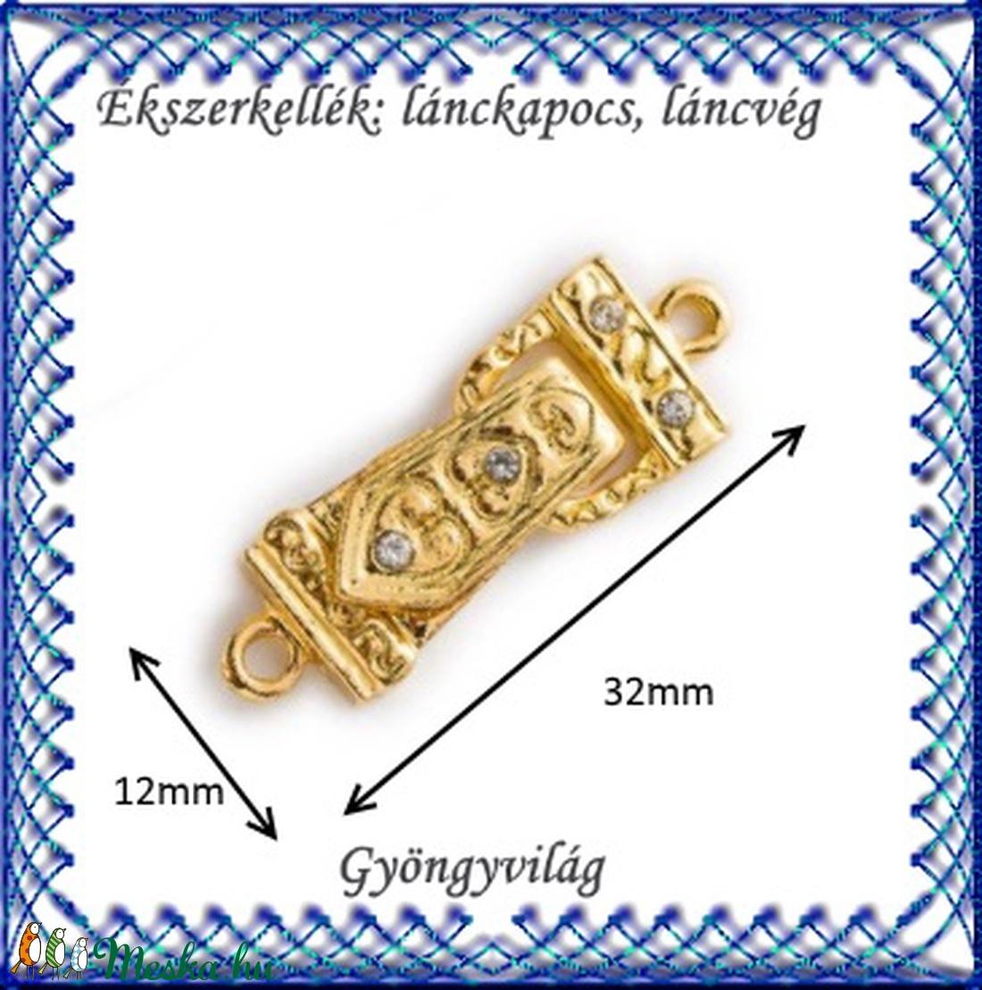 Ékszerkellék: lánckapocs BLK-1S-13 mágnes kapocs 1db - gyöngy, ékszerkellék - egyéb alkatrész - Meska.hu