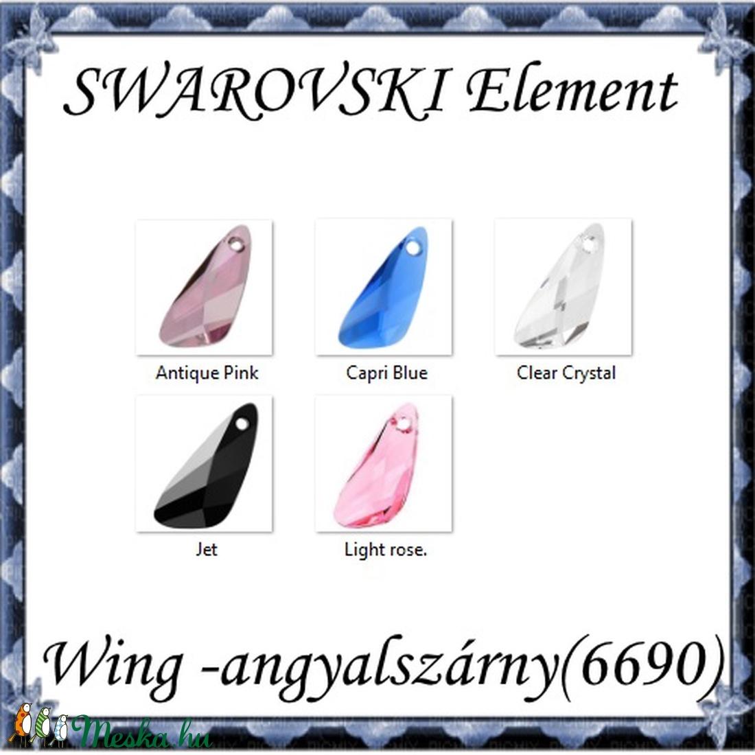 Ékszerkellék: Swarovski Wing (angyalszárny ) 23mm-es több színben  - gyöngy, ékszerkellék - swarovski kristályok - Meska.hu
