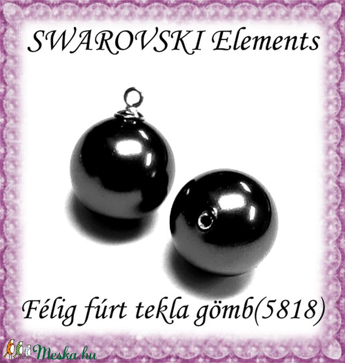 Ékszerkellék: Swarovski félig fúrt tekla gömb  6mm-es  - gyöngy, ékszerkellék - swarovski kristályok - Meska.hu