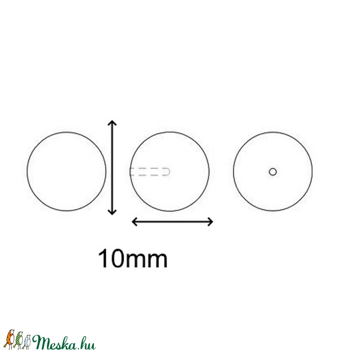 Ékszerkellék: Swarovski félig fúrt tekla gömb 10mm-es - gyöngy, ékszerkellék - swarovski kristályok - Meska.hu