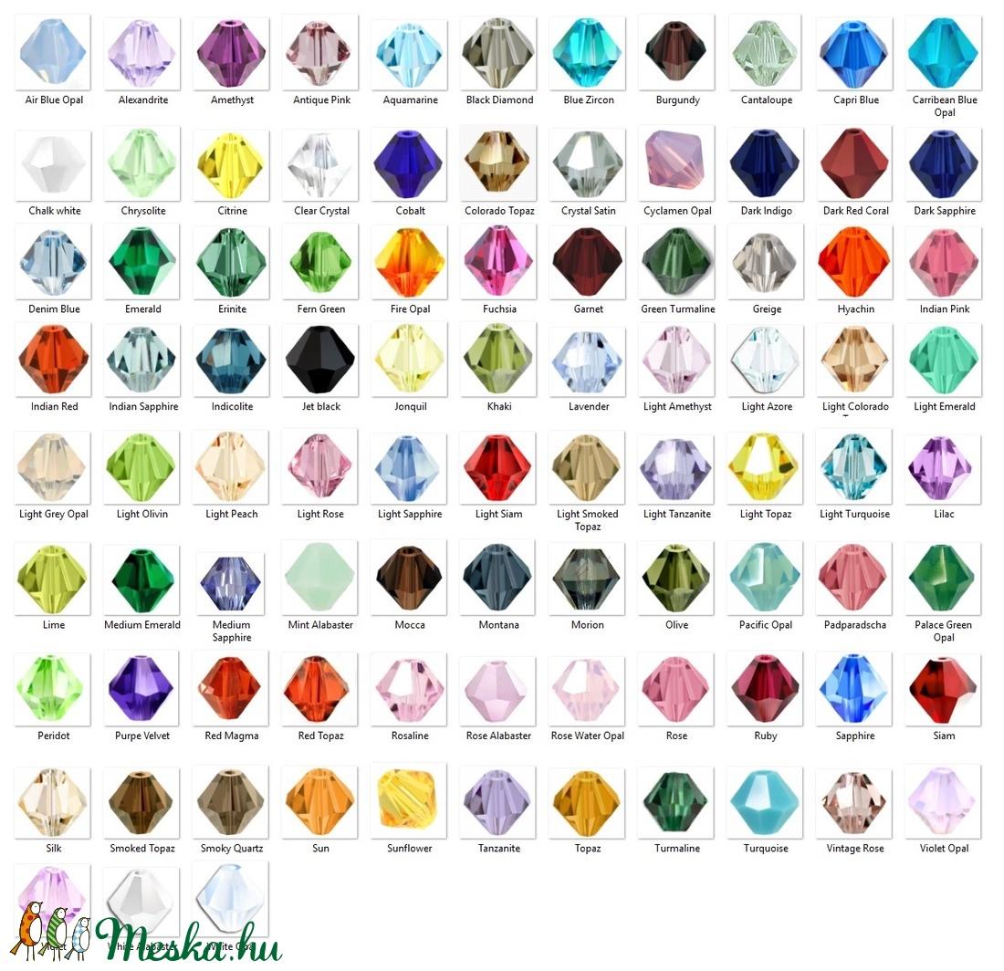 Ékszerkellék: Swarovski bicon 3mm-es  több színben  SWGY5328-3 - gyöngy, ékszerkellék - swarovski kristályok - Meska.hu