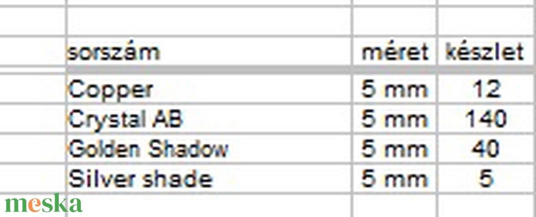 Ékszerkellék: Swarovski bicon 5mm-es  AB bevonatos 10db/cs több színben  SWGY5328-5AB - gyöngy, ékszerkellék - swarovski kristályok - Meska.hu