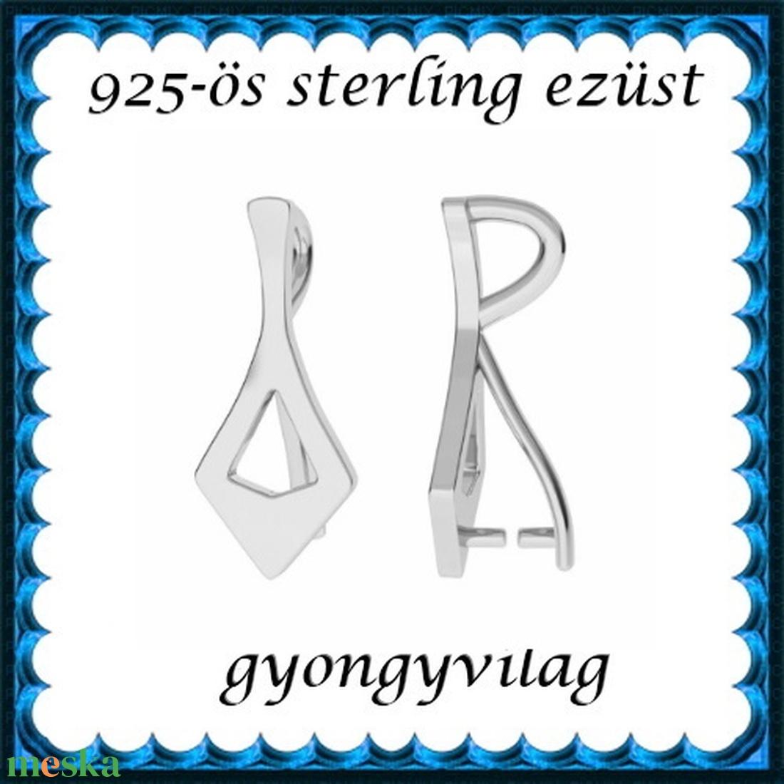 925-ös sterling ezüst ékszerkellék: medáltartó, medálkapocs EMK 86 - gyöngy, ékszerkellék - egyéb alkatrész - Meska.hu