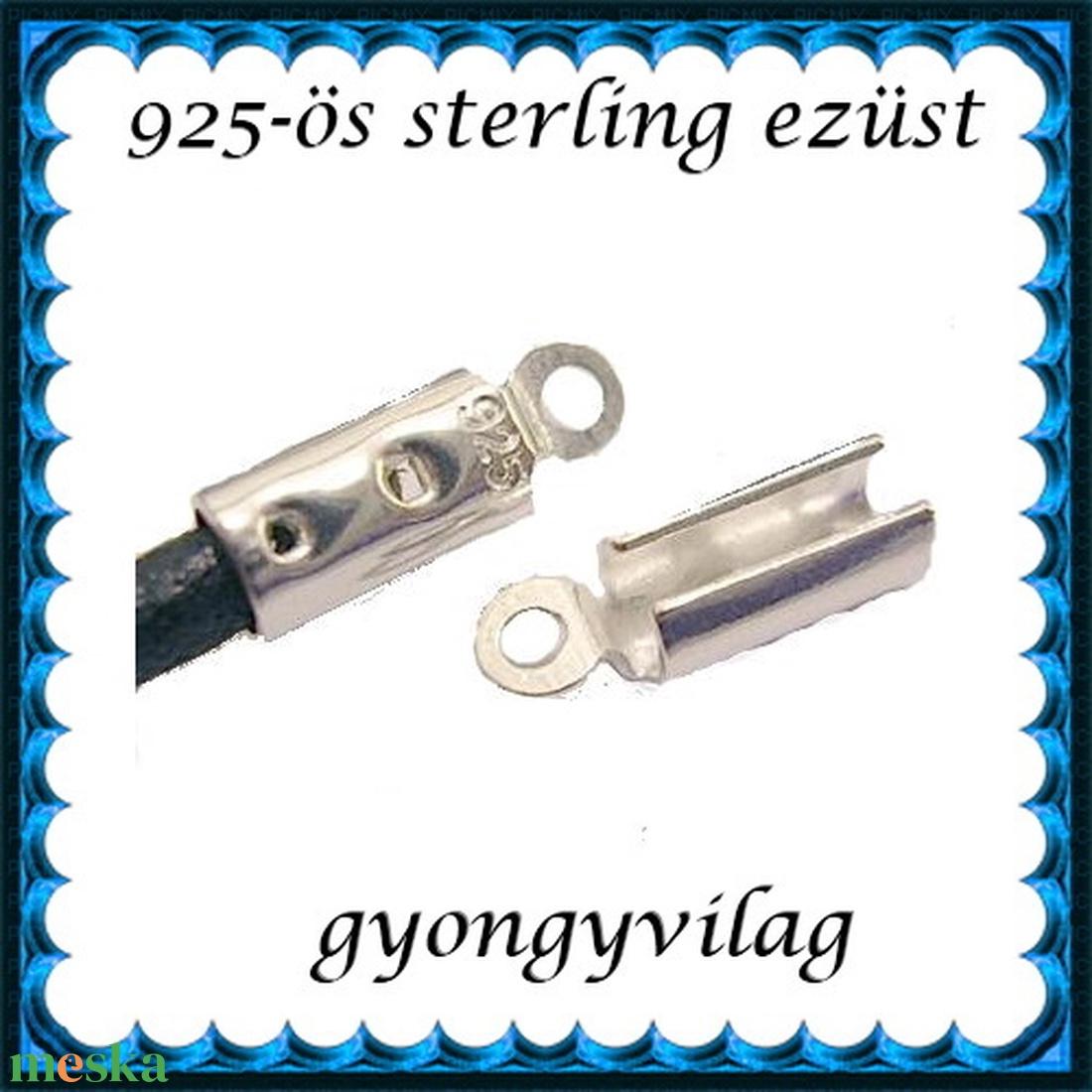 925-ös ezüst  lánckapocsvég 2,5mm-es 2db/cs ELK V 08-2,5 - gyöngy, ékszerkellék - egyéb alkatrész - Meska.hu