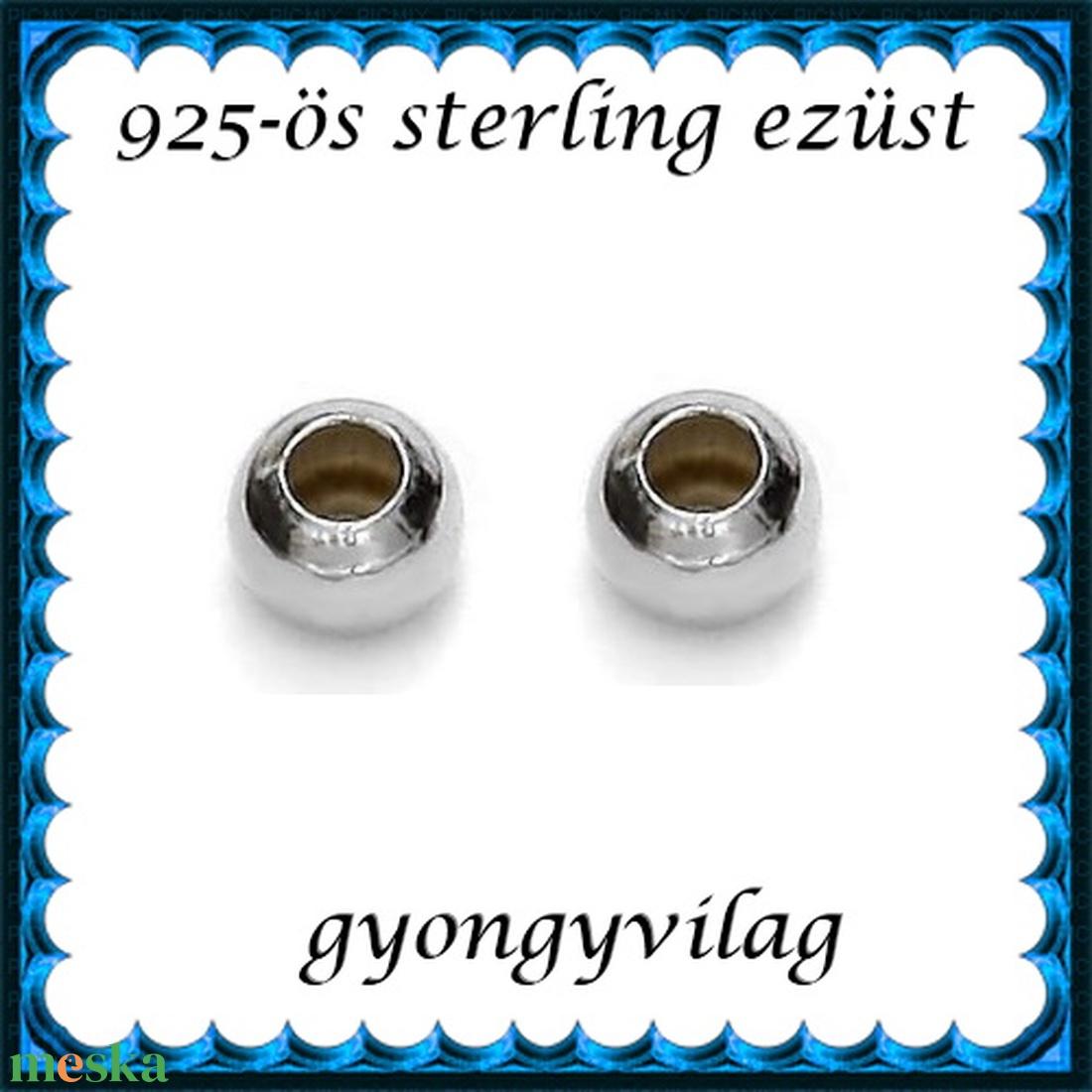 EKÖ 10-4   925-ös 4mm-es   ezüst köztes / gyöngy / díszitőelem  4db /csomag - gyöngy, ékszerkellék - fém köztesek - Meska.hu
