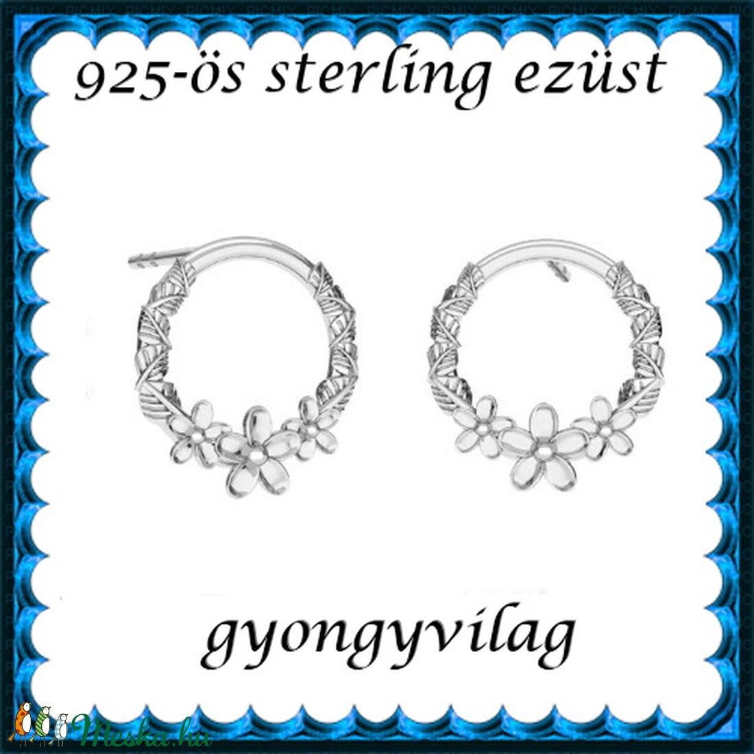 925-ös sterling ezüst: fülbevaló  EF 03 - ékszer - fülbevaló - lógó fülbevaló - Meska.hu