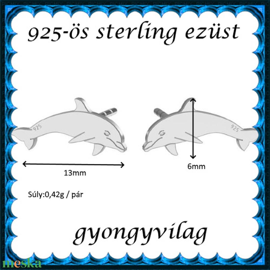 925-ös sterling ezüst: fülbevaló  EF 09 - ékszer - fülbevaló - pötty fülbevaló - Meska.hu