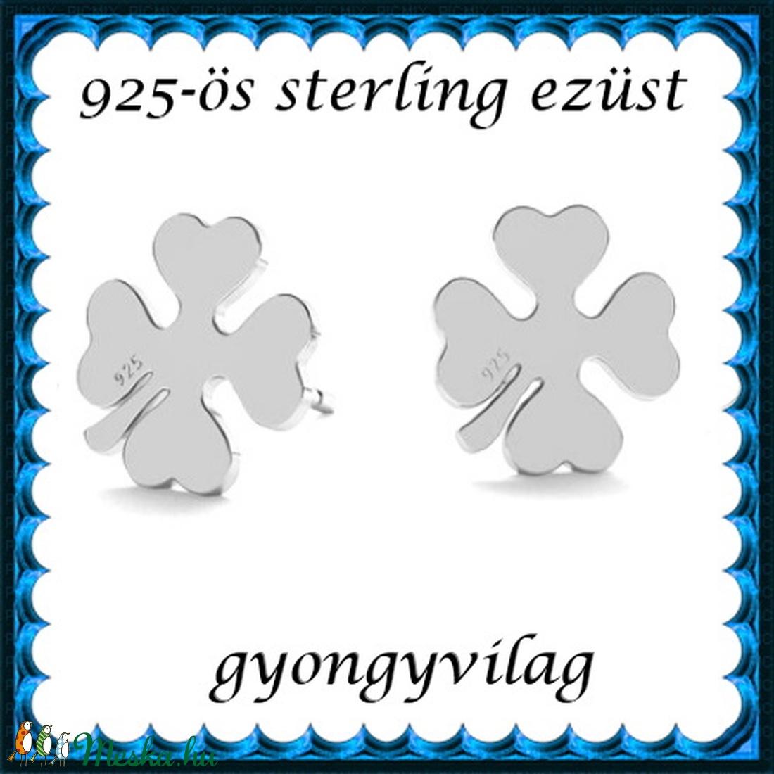 925-ös sterling ezüst: fülbevaló  EF 10e - ékszer - fülbevaló - pötty fülbevaló - Meska.hu