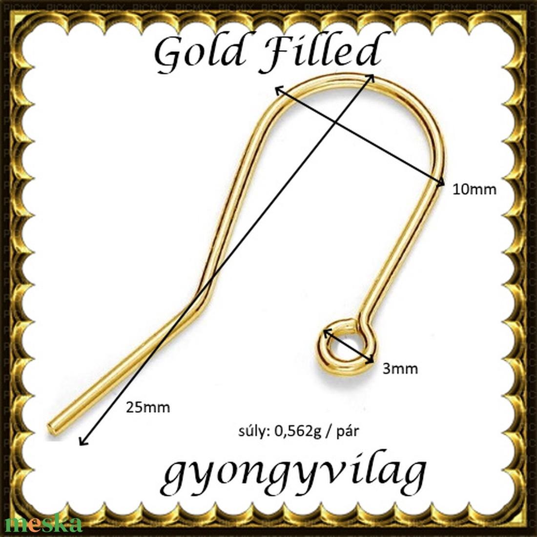 925-ös sterling ezüst ékszerkellék: fülbevalóalap akasztós  EFK A 74g gold filled - gyöngy, ékszerkellék - egyéb alkatrész - Meska.hu
