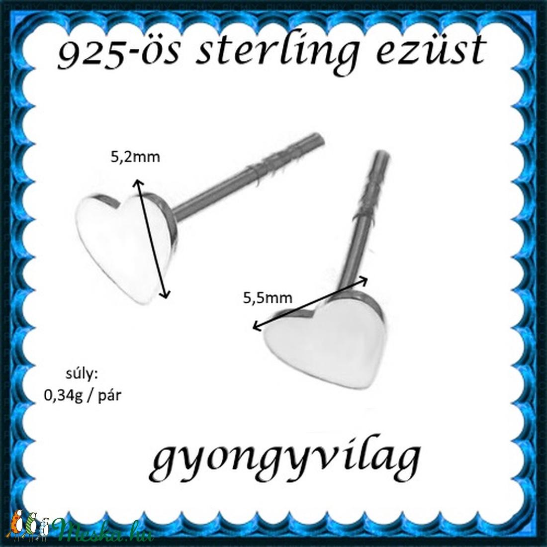 925-ös sterling ezüst: fülbevaló  EF 12 - ékszer - fülbevaló - pötty fülbevaló - Meska.hu