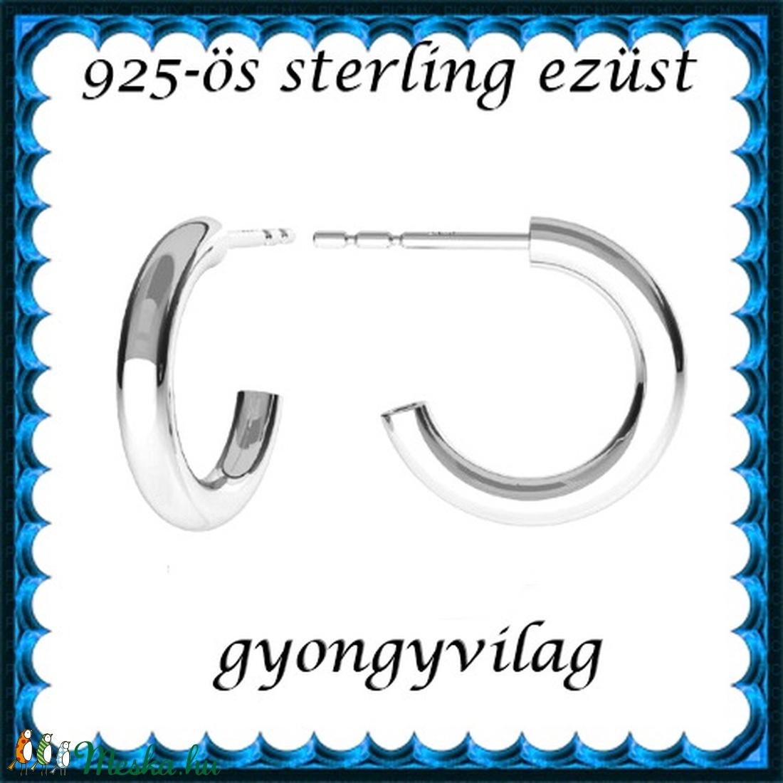 925-ös sterling ezüst: fülbevaló  EF 13 - ékszer - fülbevaló - lógó fülbevaló - Meska.hu
