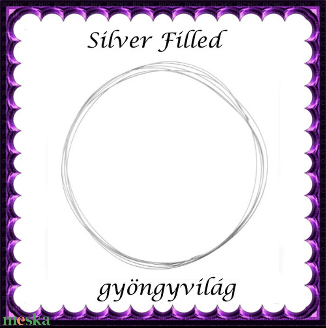 Silver Filled huzal EH 0,6mm-es 1cm - gyöngy, ékszerkellék - egyéb alkatrész - Meska.hu