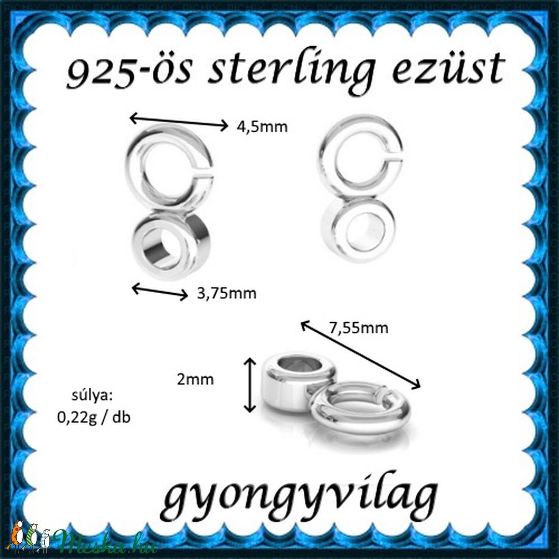 925-ös sterling ezüst ékszerkellék: medáltartó, medálkapocs EMT 36 - gyöngy, ékszerkellék - egyéb alkatrész - Meska.hu