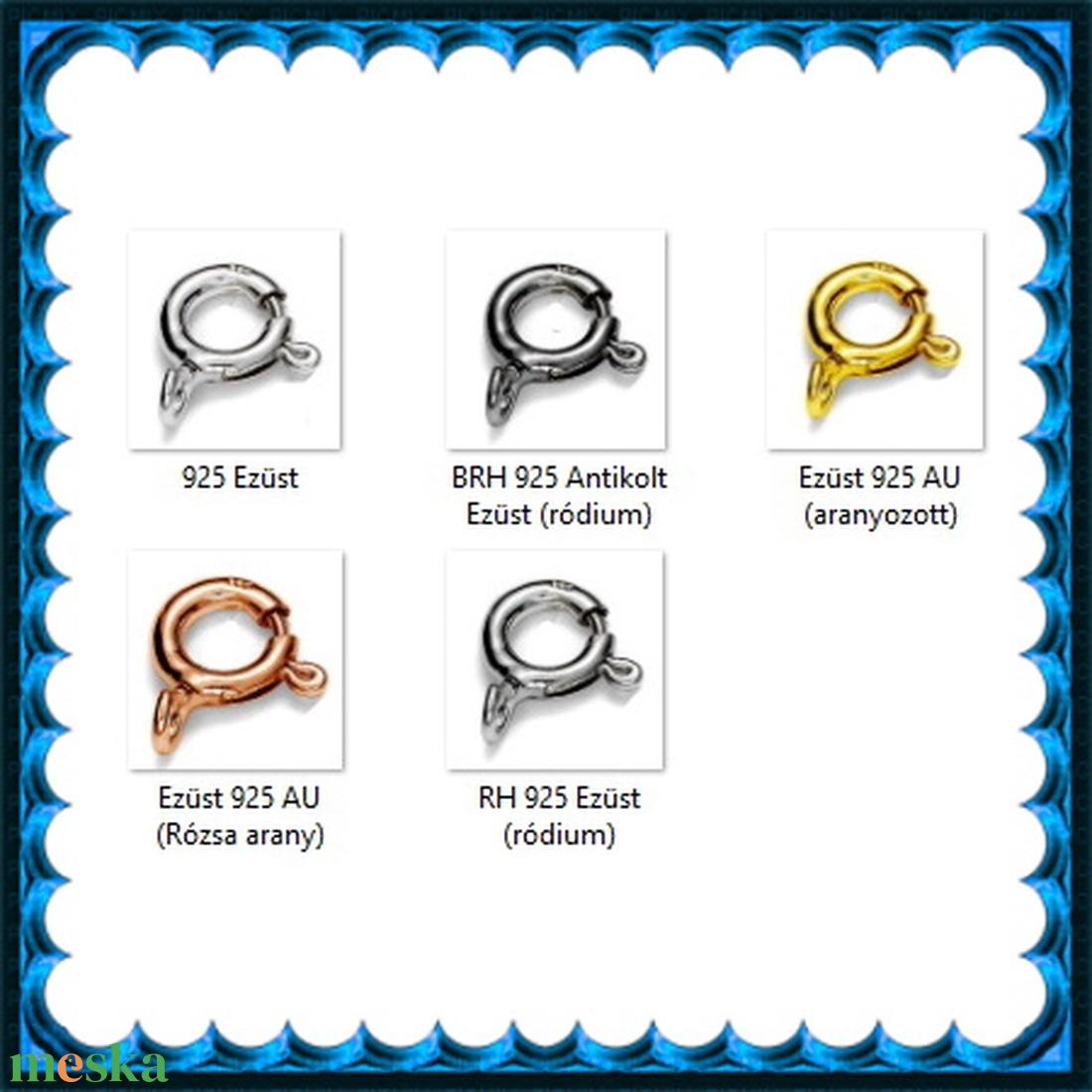 925-ös sterling ezüst ékszerkellék: lánckalocs  ELK 1S 12-8,3g - gyöngy, ékszerkellék - egyéb alkatrész - Meska.hu