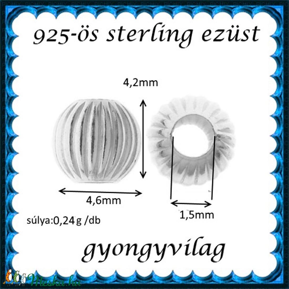 925-ös sterling ezüst ékszerkellék: köztes / gyöngy / dísz EKÖ 80-5 - gyöngy, ékszerkellék - egyéb alkatrész - Meska.hu