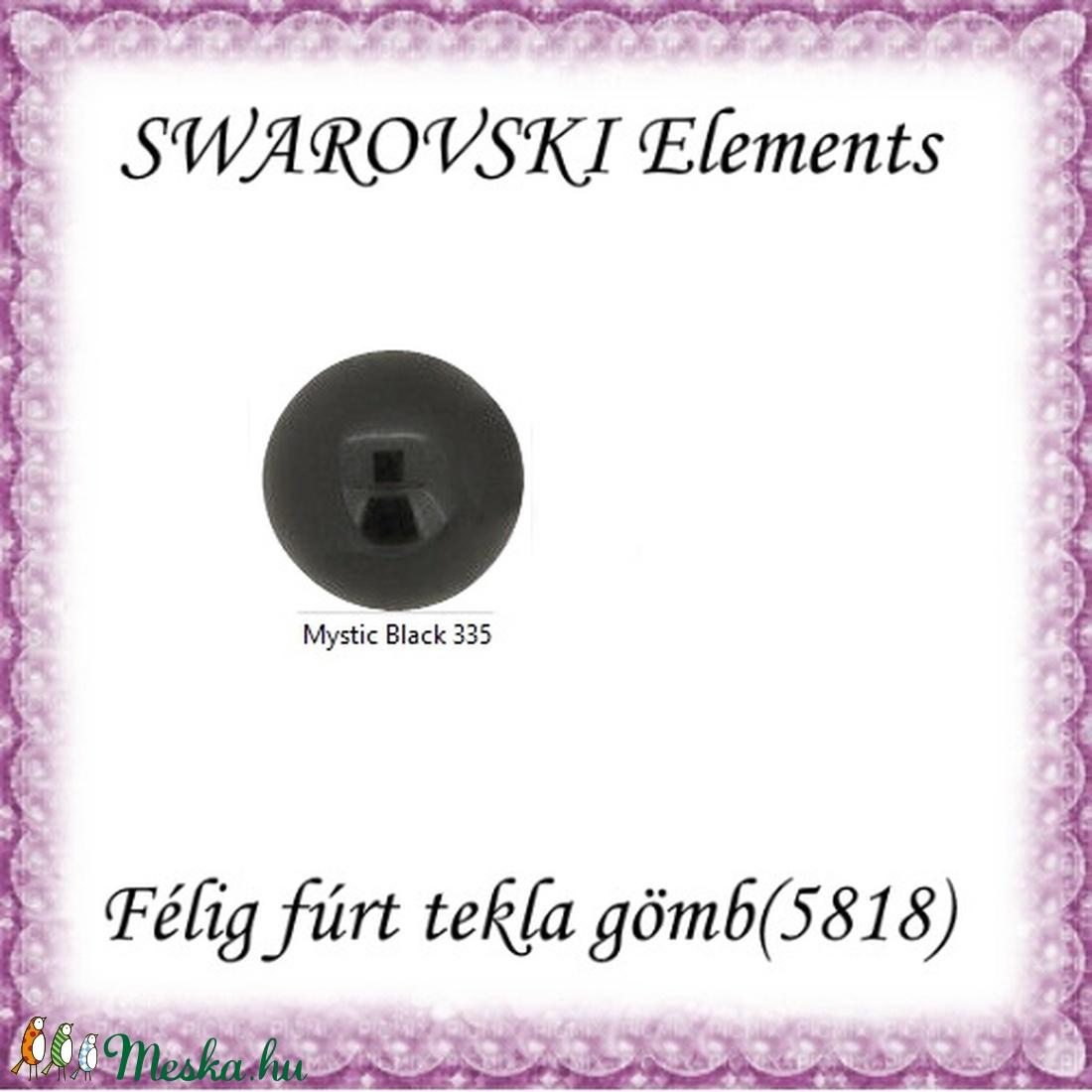 Ékszerkellék: Swarovski félig fúrt tekla gömb 12mm-es - gyöngy, ékszerkellék - swarovski kristályok - Meska.hu