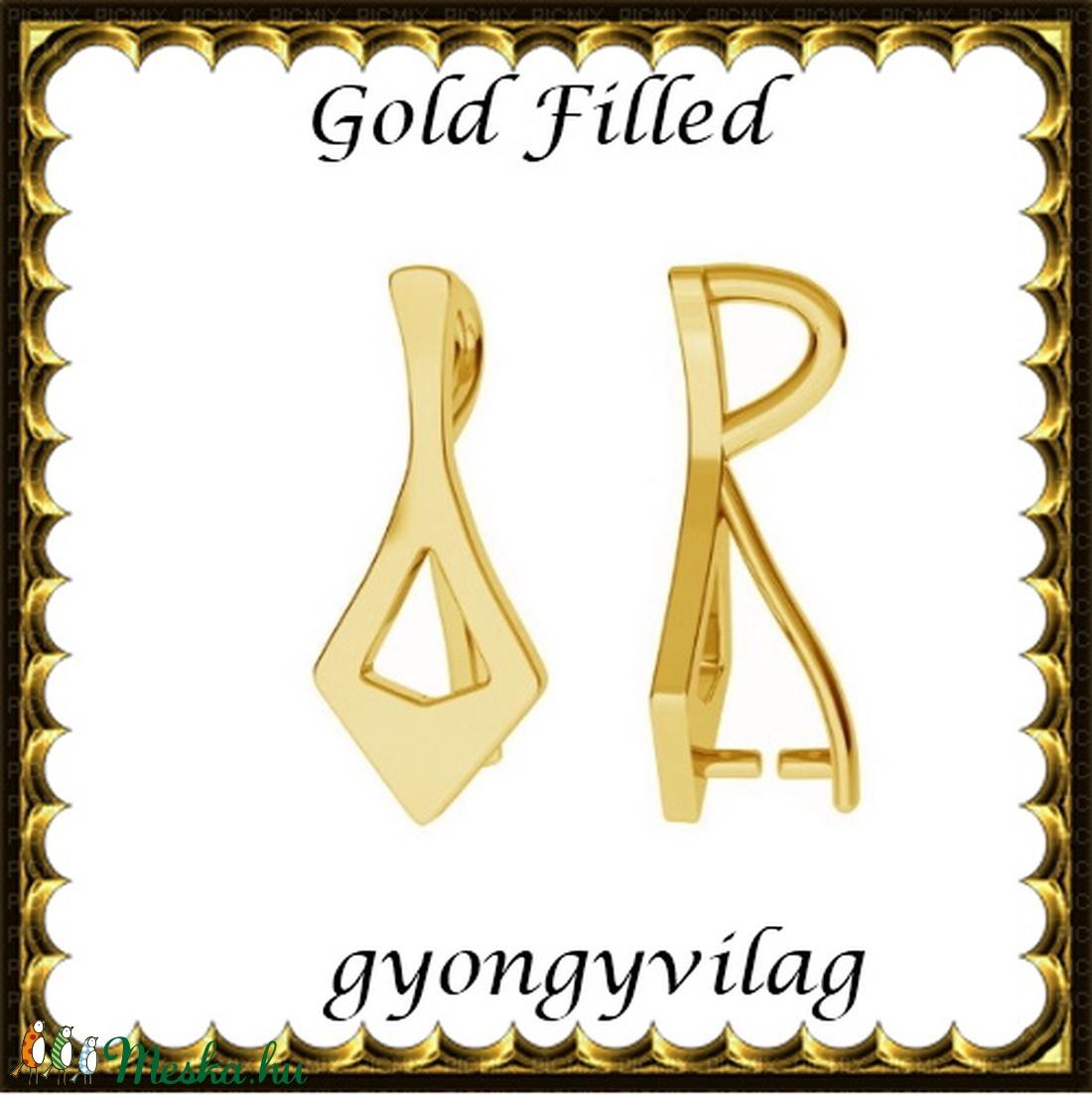 925-ös sterling ezüst ékszerkellék: medáltartó, medálkapocs EMK 86 g Gold Filled - gyöngy, ékszerkellék - egyéb alkatrész - Meska.hu