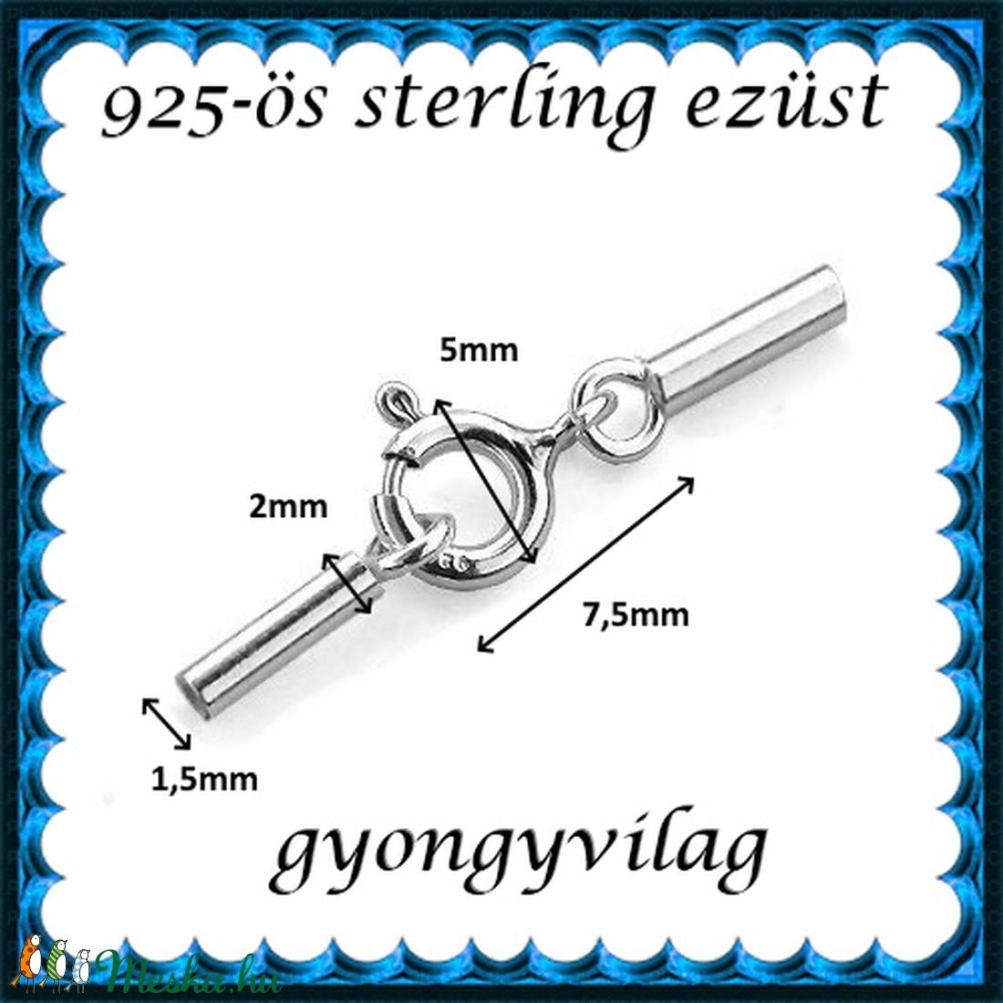 925-ös ezüst láncvég + kapocs ELK K+V 05-1,5 - gyöngy, ékszerkellék - egyéb alkatrész - Meska.hu