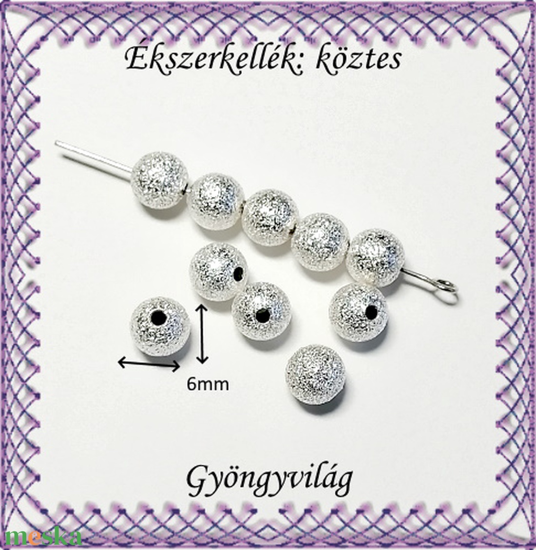 Ékszerkellék: köztes / díszítőelem / gyöngy BKÖ 1S 26-6e 20db/csomag - gyöngy, ékszerkellék - fém köztesek - Meska.hu
