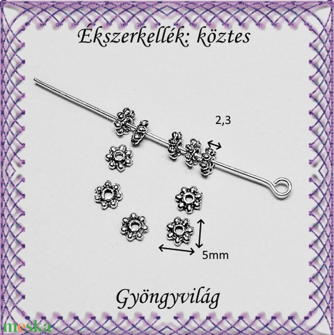 Ékszerkellék: köztes / díszítőelem / gyöngy BKÖ 1S 20-5e 15db/csomag - gyöngy, ékszerkellék - fém köztesek - Meska.hu