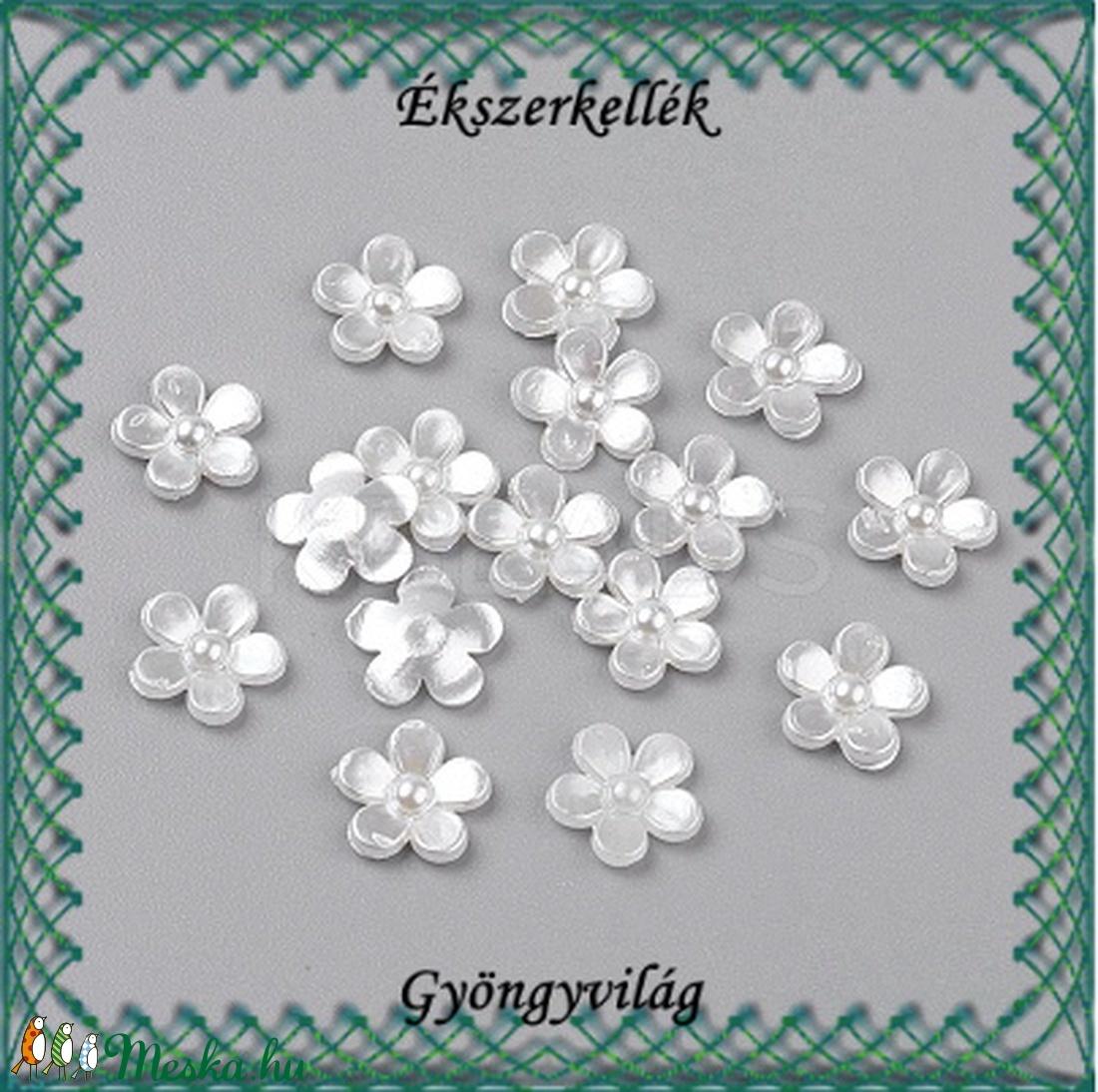 Ékszerkellék: akril virág GYA-TV02 25db - gyöngy, ékszerkellék - üveggyöngy - Meska.hu