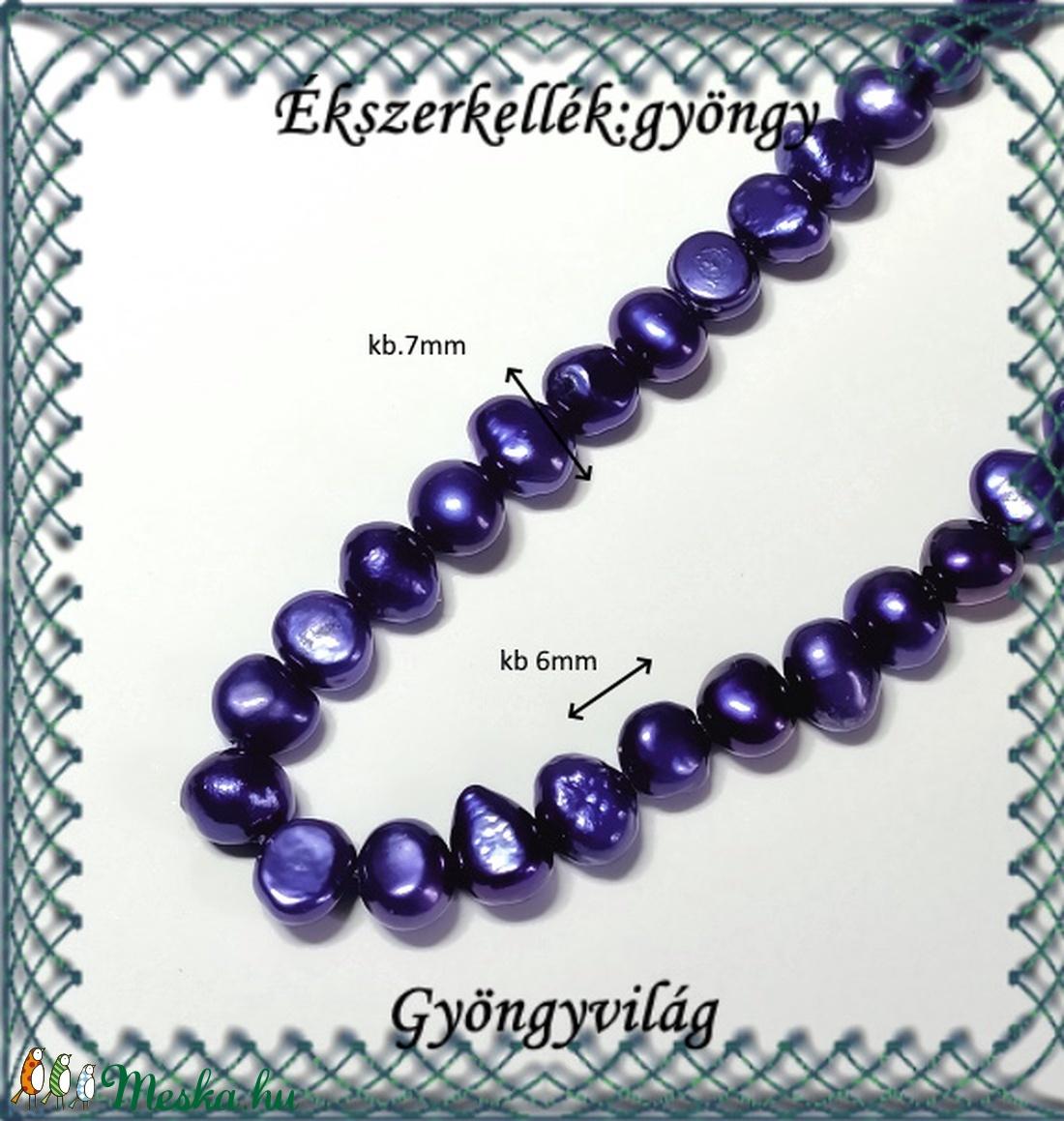 Ékszerkellék: igazgyöngy fűzér GYI-03 6mm kék - gyöngy, ékszerkellék - igazgyöngy - Meska.hu