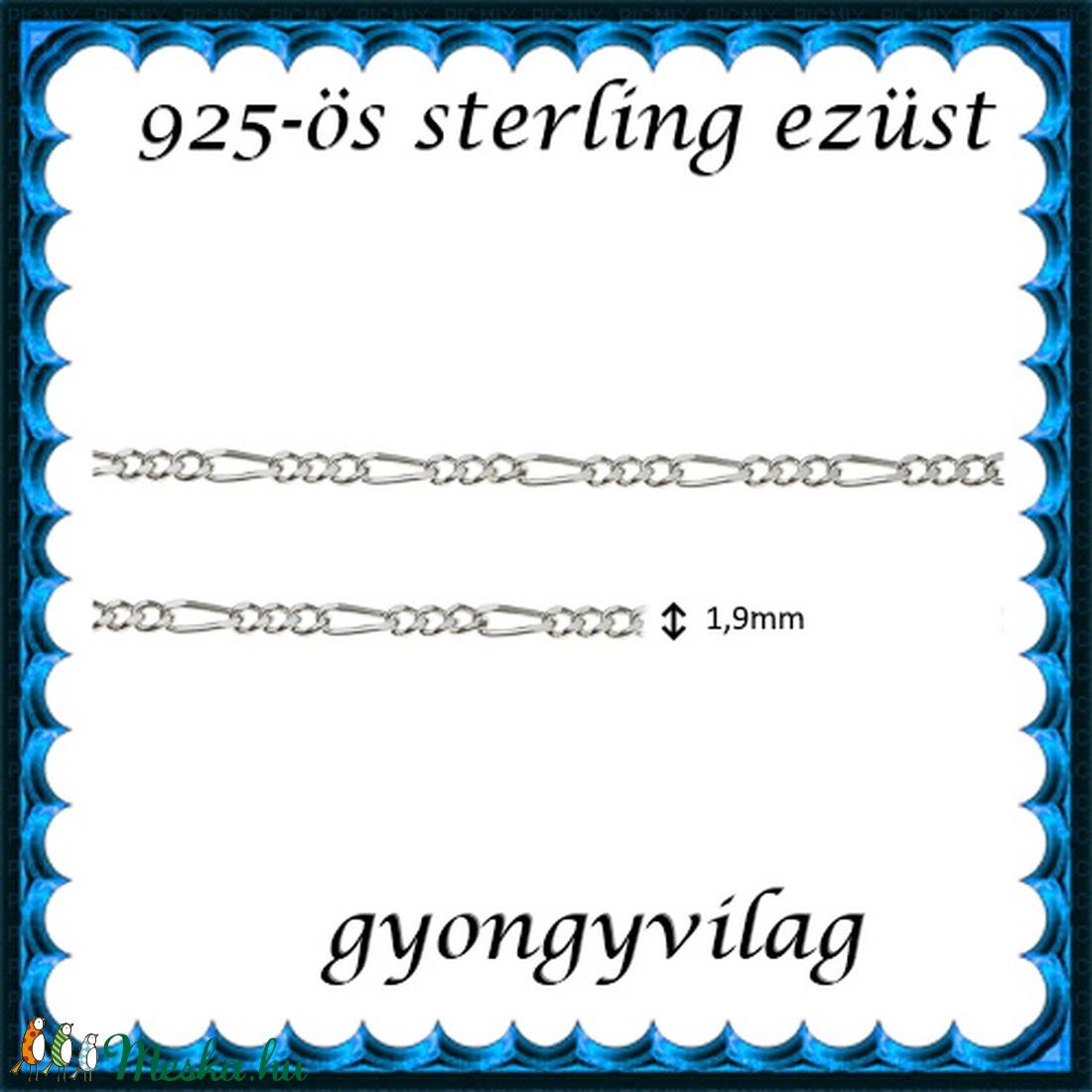 925-ös sterling ezüst ékszerkellék: lánc méterben EL09-1,9 - gyöngy, ékszerkellék - Meska.hu