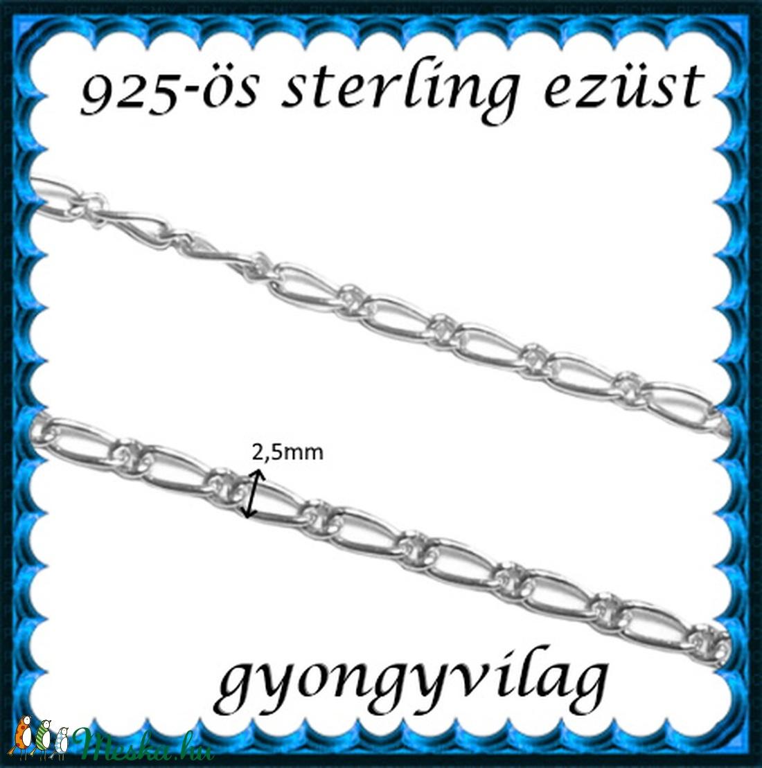 925-ös sterling ezüst ékszerkellék: lánc méterben EL04-2,5 - Meska.hu