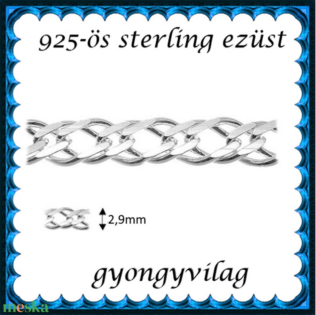 925-ös sterling ezüst ékszerkellék: lánc méterben 925 EL14-2,9e - Meska.hu