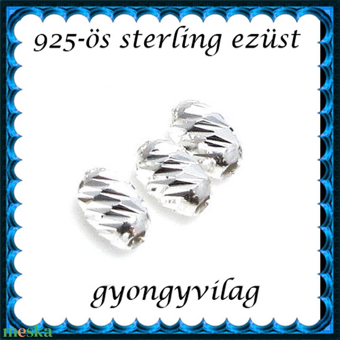 925-ös ezüst köztes / gyöngy / dísz EKÖ 96 - gyöngy, ékszerkellék - fém köztesek - Meska.hu