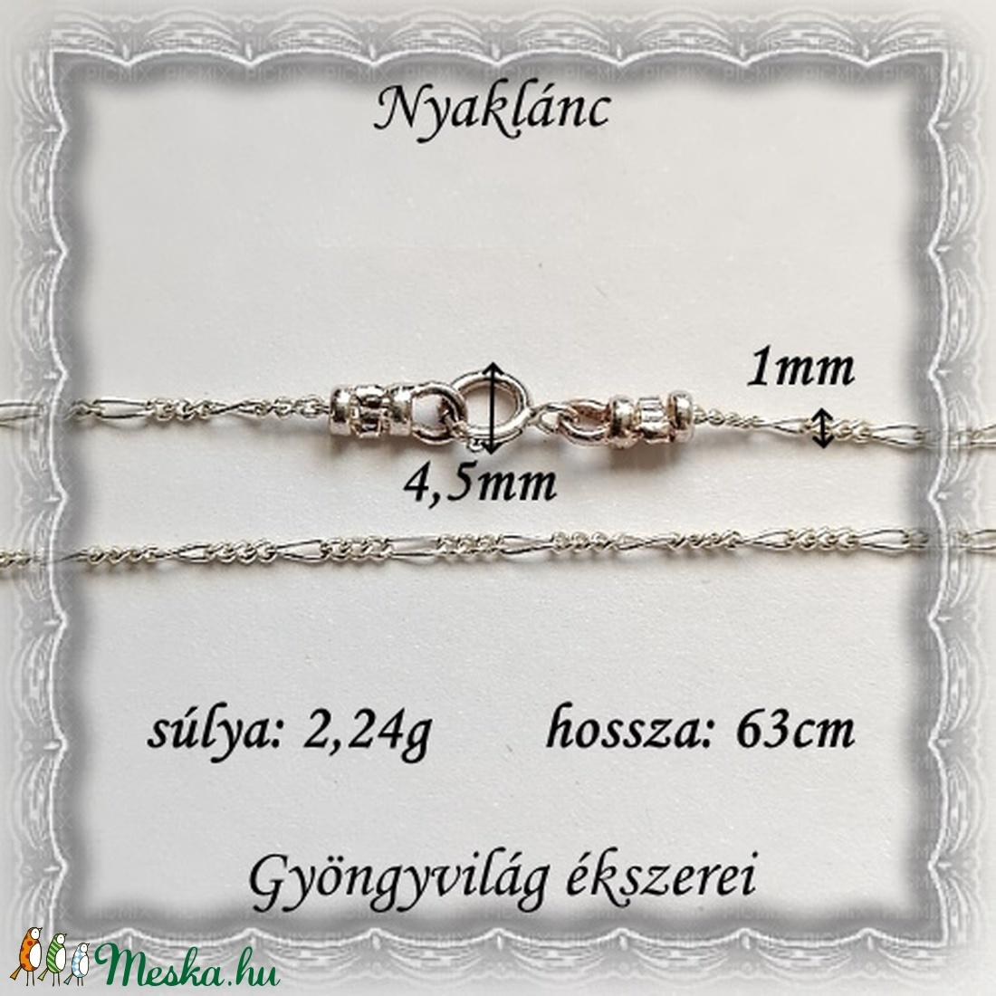 925-ös sterling ezüst lánc SSZ EÜL 03-63 - ékszer - nyaklánc - párhuzamos nyaklánc - Meska.hu