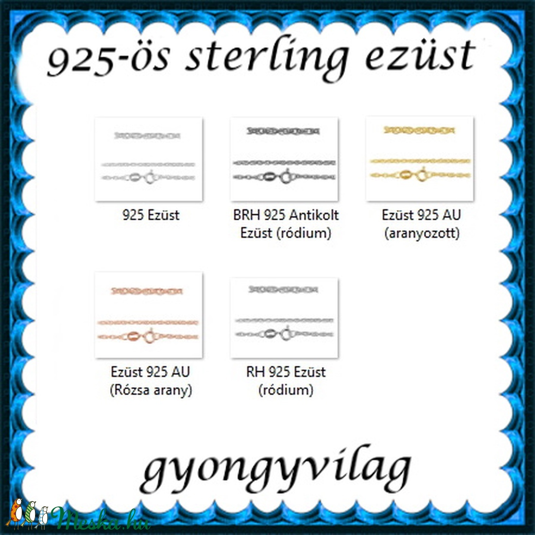 Ékszerek-nyakláncok: 925-ös sterling ezüst lánc SSZ-EÜL 07-42-1,55 e - ékszer - nyaklánc - medál nélküli nyaklánc - Meska.hu
