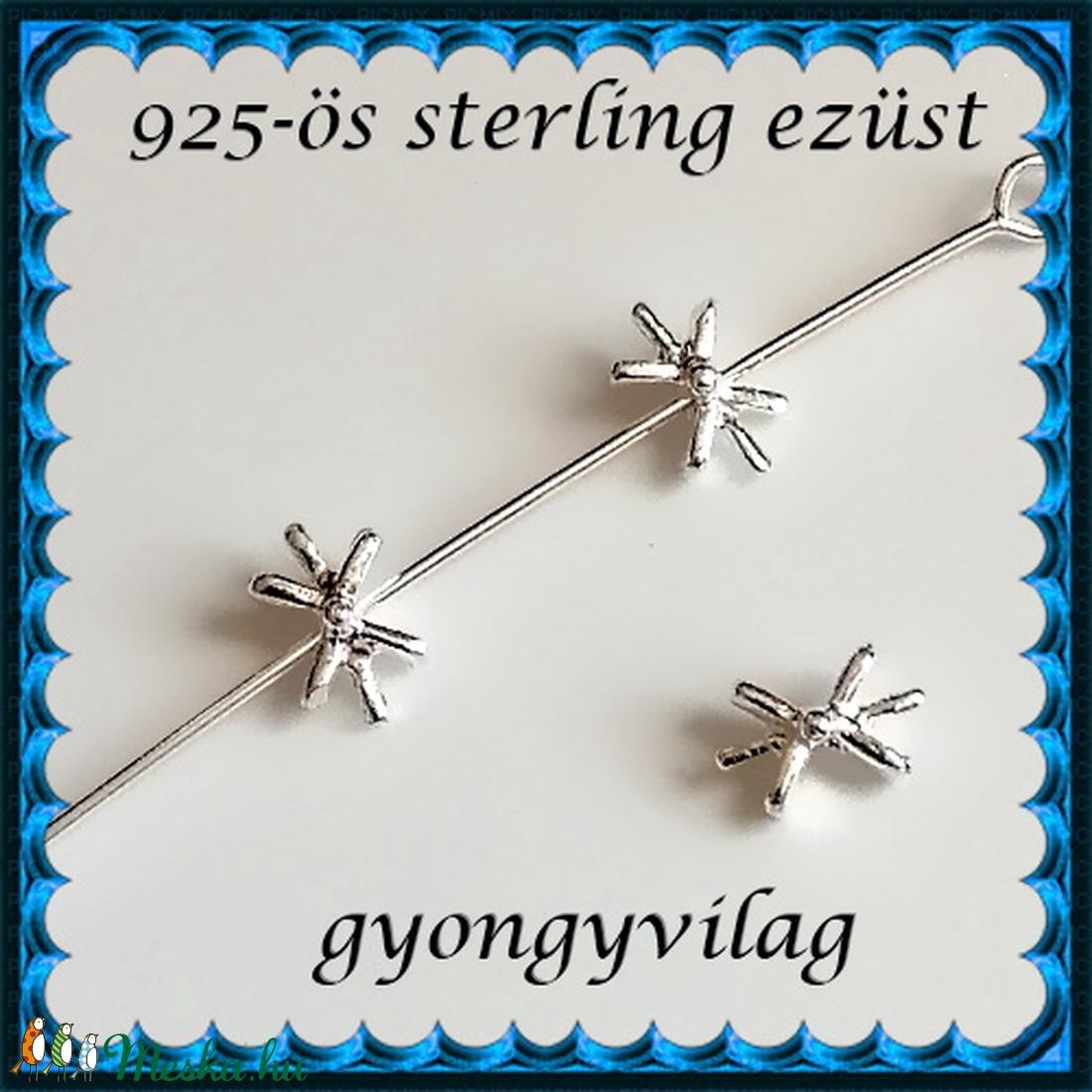 925-ös ezüst köztes/gyöngy/díszitőelem  EKÖ 97 - gyöngy, ékszerkellék - fém köztesek - Meska.hu